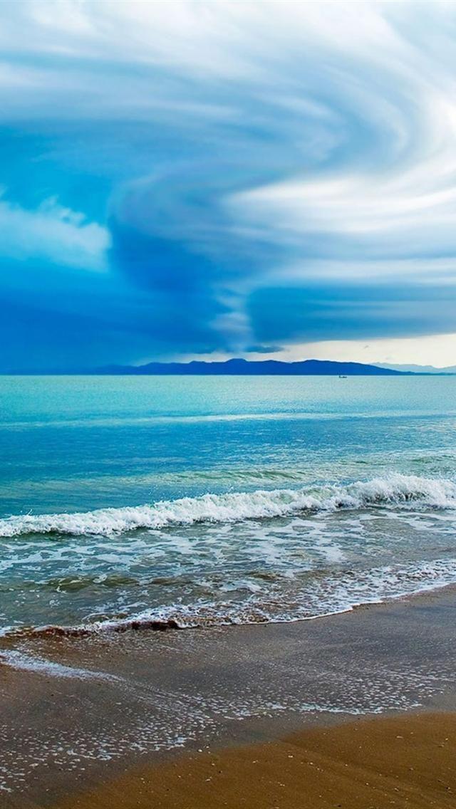 Sea waves cg iphone 5 hd wallpapers wallpapers beach waves ocean beach - Cg background hd ...