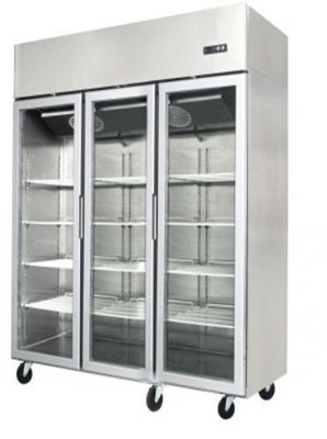 Commercial Upright Freezers Three Door Stainless Steel Glass Display Freezer 1500 Litre In 2020 Catering Equipment Glass Door Refrigerator Glass Door