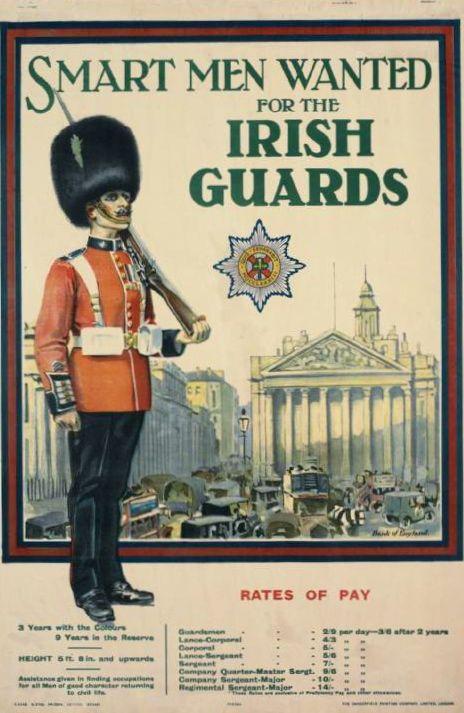 WA59 Vintage WWI British Coldstream Guards Recruitment War Poster WW1 A1 A2 A3