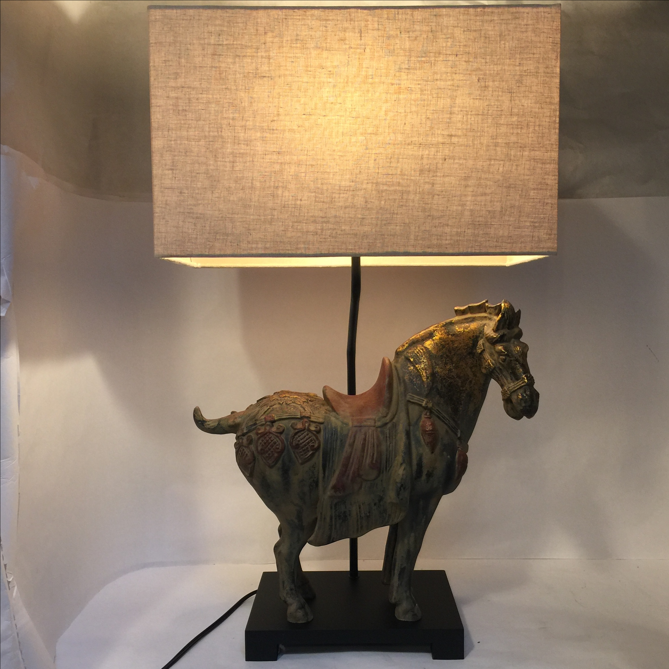 Asian Table Lamps Asian Ming Horse Large Table Lamp  Large Table Lamps