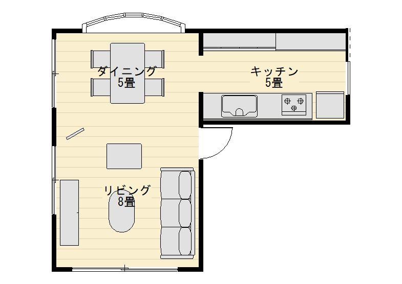 同じ18畳ldkでもこんなに違う 5つの形でみる広さの感じ方 Ldk レイアウト 家のプラン キッチン間取り
