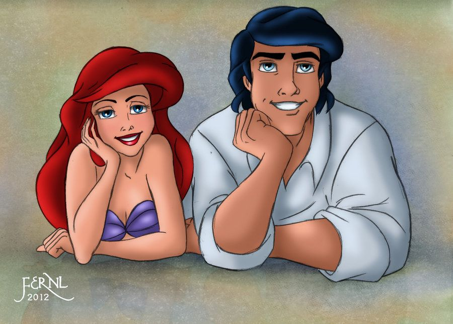 Ariel and eric fan art