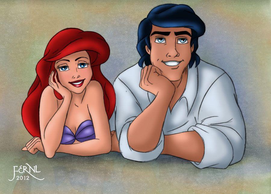 ARIEL AND ERIC III by FERNL on deviantART Disney Pinterest