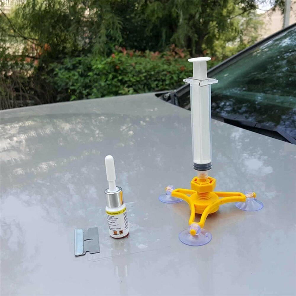 Cracked glass repair kit windshield repair glass repair