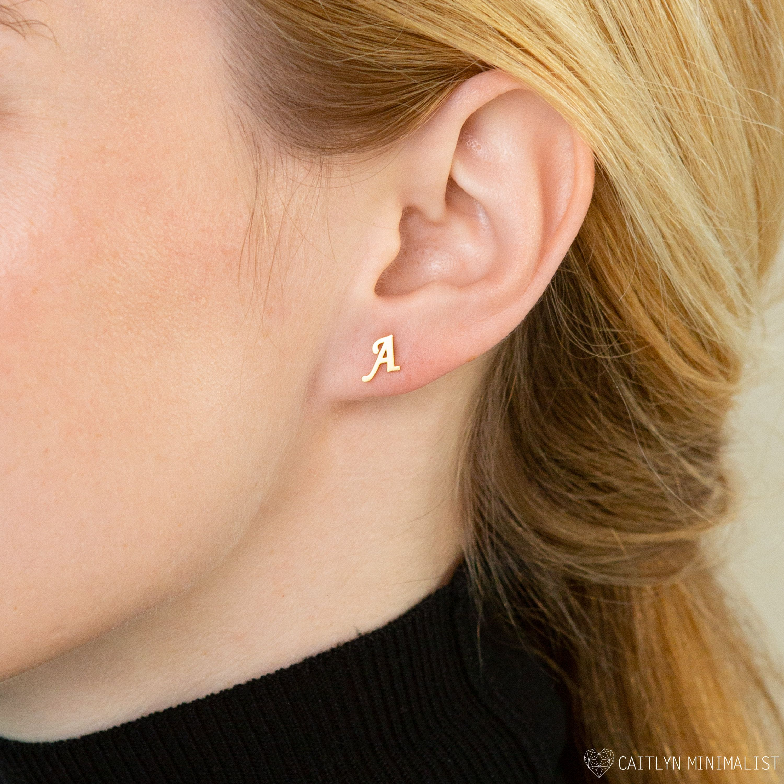 Handmade Pretty Single Pearl and 925 Rose Gold Plated Sterling Silver Earrings Gift for Her