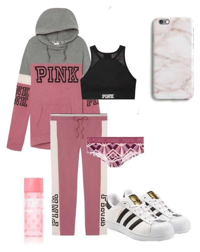 """Pink outfit"" by lissetzepeda on Polyvore featuring adidas Originals"