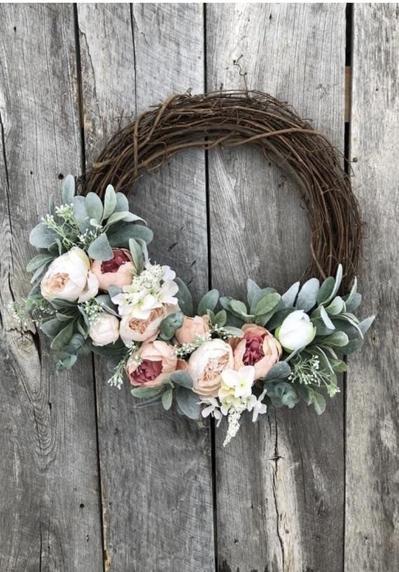 Photo of Best Selling Wreath! Spring Wreaths for Front Door, Mothers Day Gift, Peony Wrea …