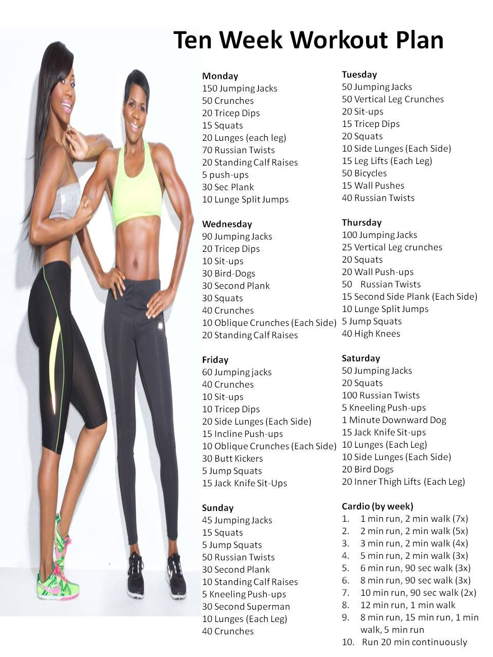 Ten Week Workout Plan  Diet And Exercise  Stomach -6809