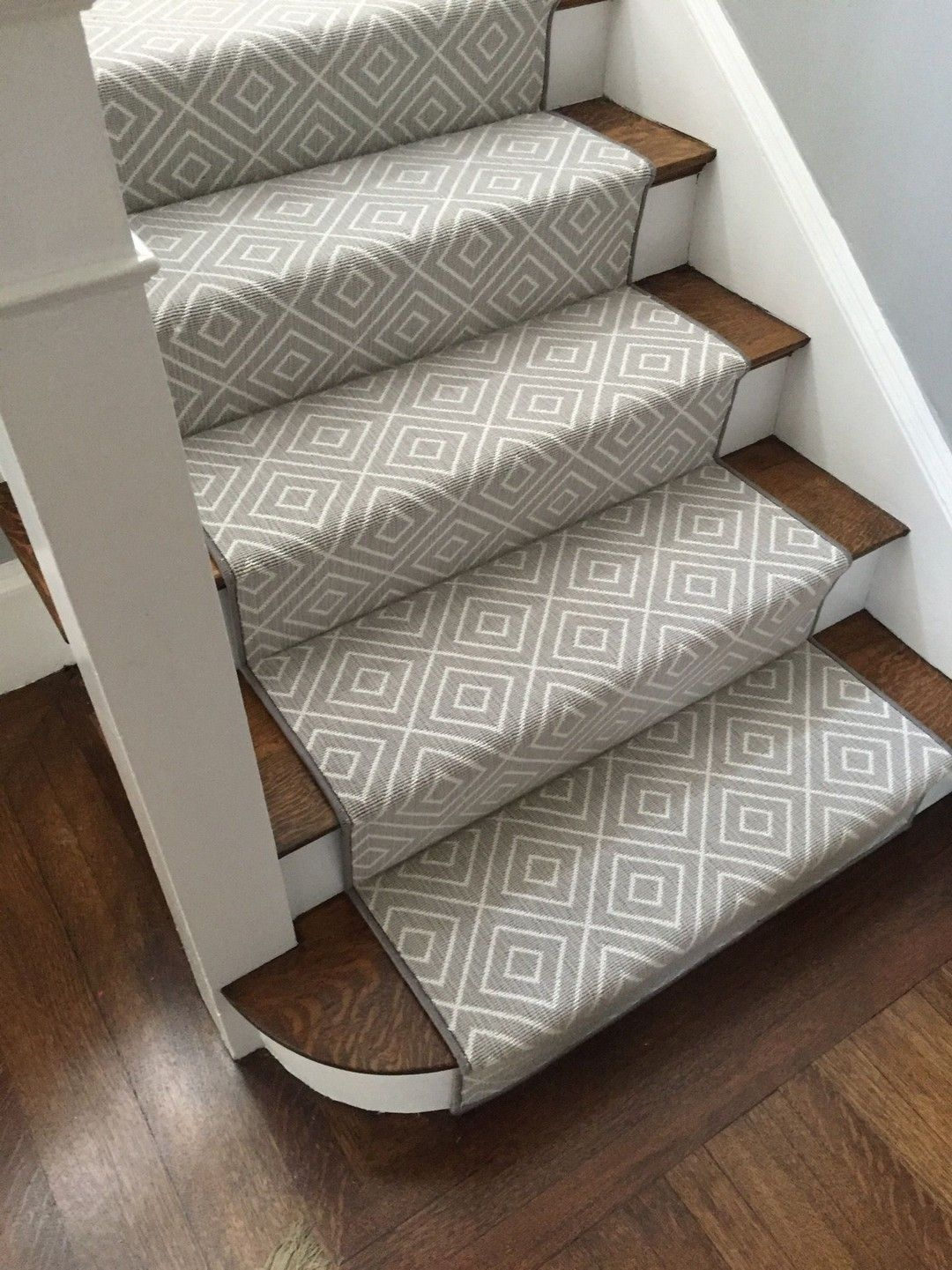 Elegant Painted Stair Runner For Amazing Home Interior In 2020