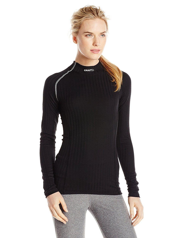 Women's Active Extreme Crewneck Base Layer Shirt - Black/Platinum -  CZ11UVOTVL1 | Base layer shirt, Active wear for women, Sportswear women