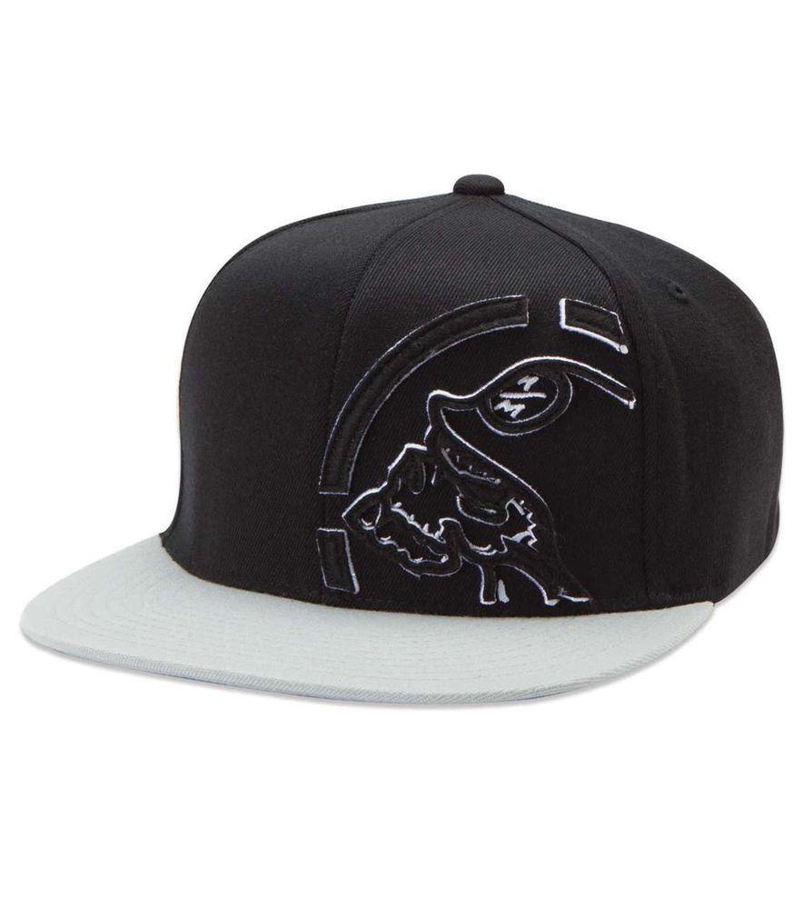 4e65c378087  MetalMulisha Trimmed Mens Hat  Flexfit Signature Skull Helmet Logo Black L  XL
