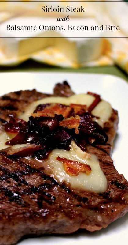Steak with Balsamic Onions, Bacon and Brie Sirloin Steak with Balsamic Onions, Bacon and Brie   {Paleo (omit the brie), Primal, Traditional Foods, Real Food}Sirloin Steak with Balsamic Onions, Bacon and Brie   {Paleo (omit the brie), Primal, Traditional Foods, Real Food}