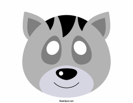 Raccoon Mask Templates Including A Coloring Page Version Of The Free Printable PDF At