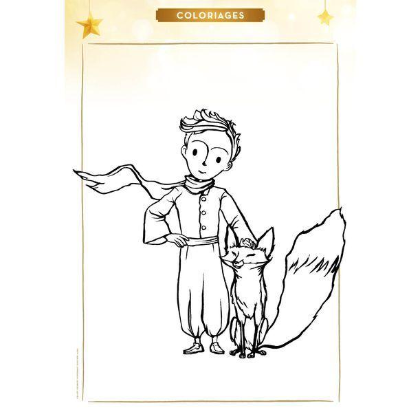 Coloriages du Petit Prince : le Petit Prince et le renard | o ...
