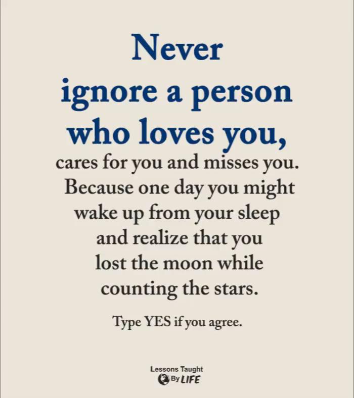 Never ignore a person #InspirationalQuotes