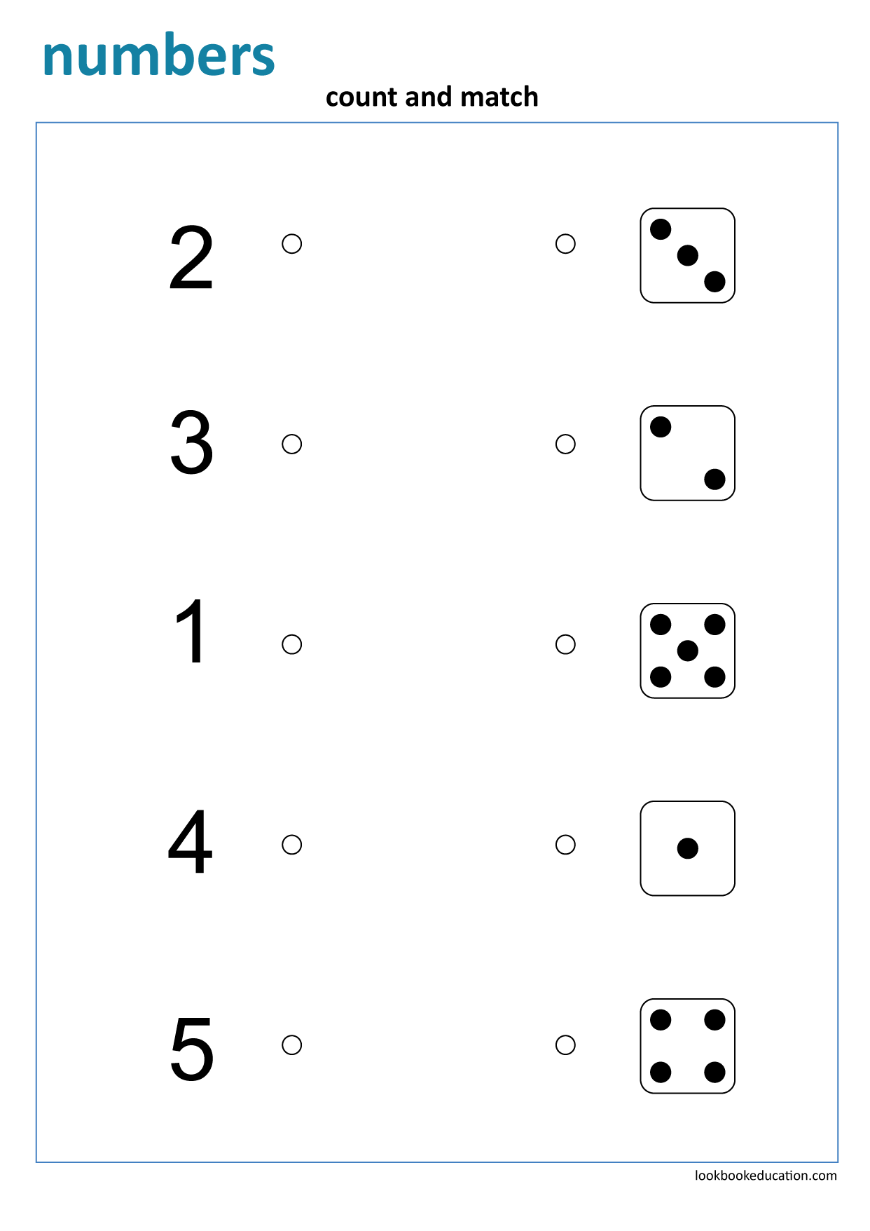 Worksheet Matching Numbers Dice First Grade Worksheets Worksheets Preschool Worksheets [ 1756 x 1242 Pixel ]