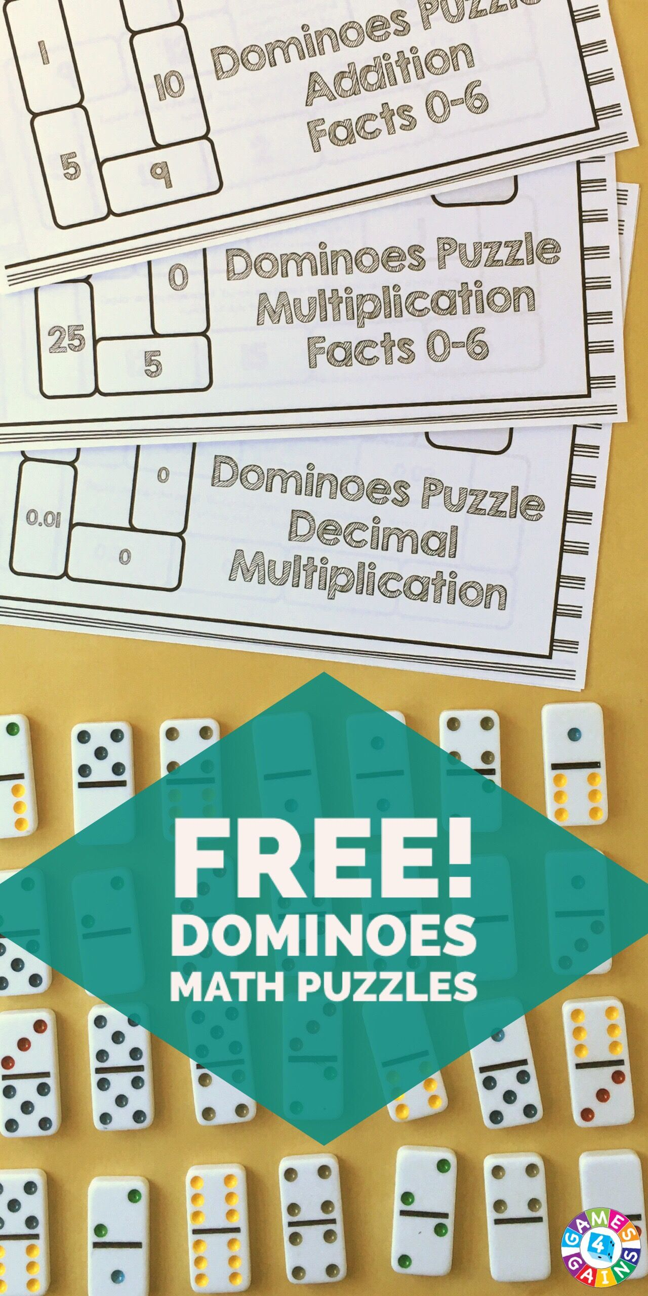 Use Basic Facts to Solve These Dominoes Math Puzzles! | Decimal ...