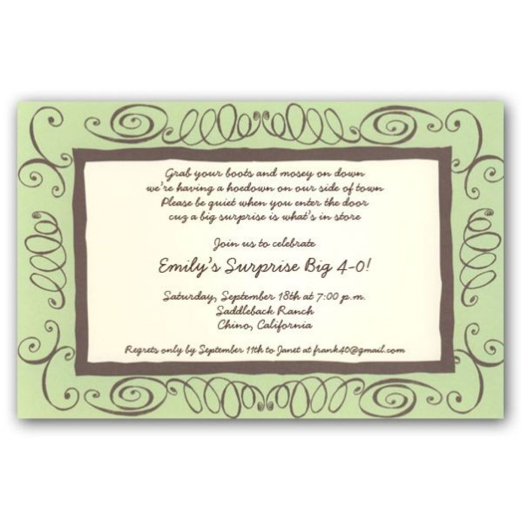 40th Birthday Invitation Wording Inside 40th Birthday Invitation – 40th Birthday Invitation Sayings