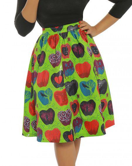 Pryia  Bad Apple Print Green Swing Skirt  cd35f159c