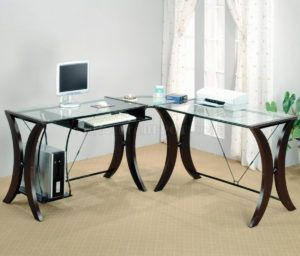 Glass Top Computer Desk Office Depot #coasterfurnituredesks