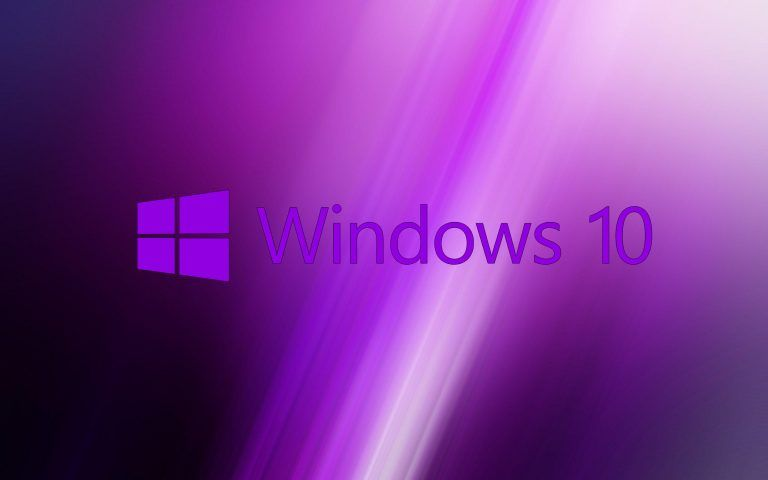 Windows 10 Wallpaper Purple with Original Logo Windows