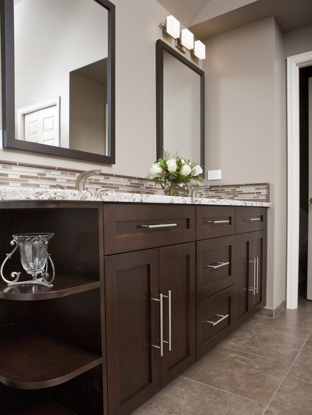 9 Bathroom Vanity Ideas Bathroom Remodeling Hgtv Remodels Bathroom Remodel Master Dark Wood Bathroom Bathrooms Remodel