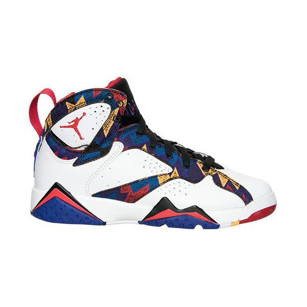 f537c727f05992 Boys  Grade School Air Jordan Retro 7 Basketball Shoes ( 140) ❤ liked on Polyvore  featuring shoes