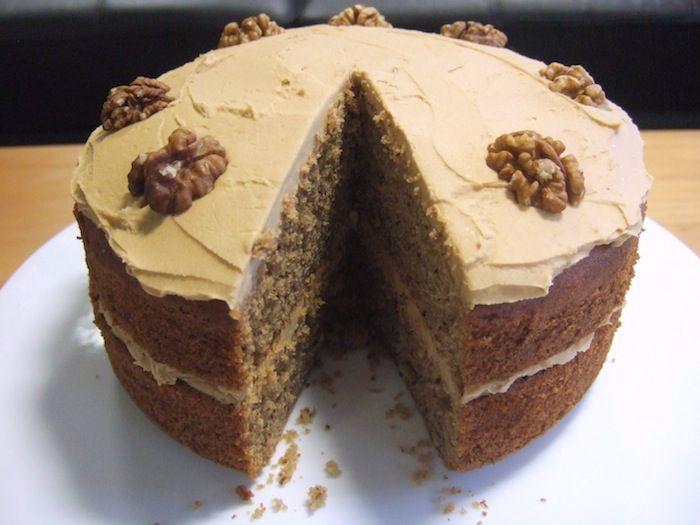 Gluten free coffee walnut cake recipe