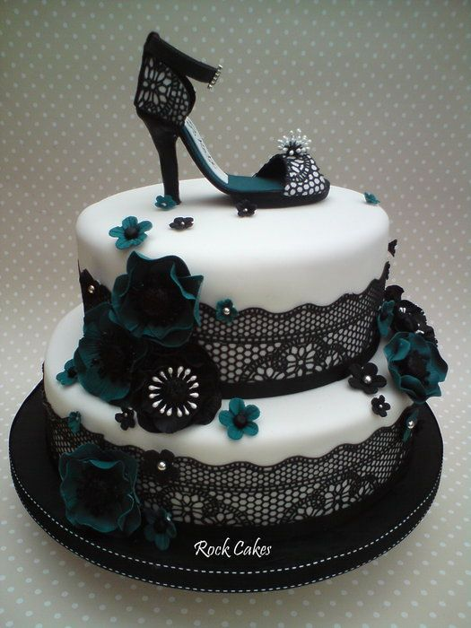 Black Lace Shoe by Rock Cakes