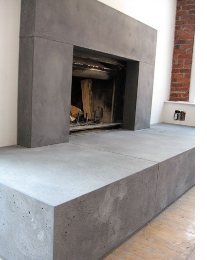Concrete Fireplace Hearth Fireplace In 2019 Pinterest