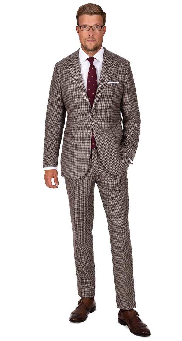 Light Brown Wool Cashmere Suit Cashmere Suit Brown Suits Suits