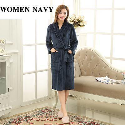 976d008b0d New Lovers Soft As Silk Winter Warm Long Bathrobe Men Flannel Kimono Bath  Robe Mens Lounge
