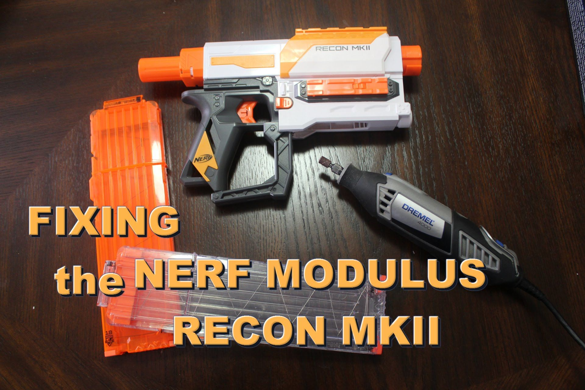 Here today, we will be doing a quick functional mod to fix the Nerf Modulus