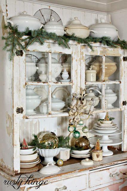 Feliz navidad whole department in xmas navidad decoraci n hogar y decoraci n vintage - Vajilla rustica ...