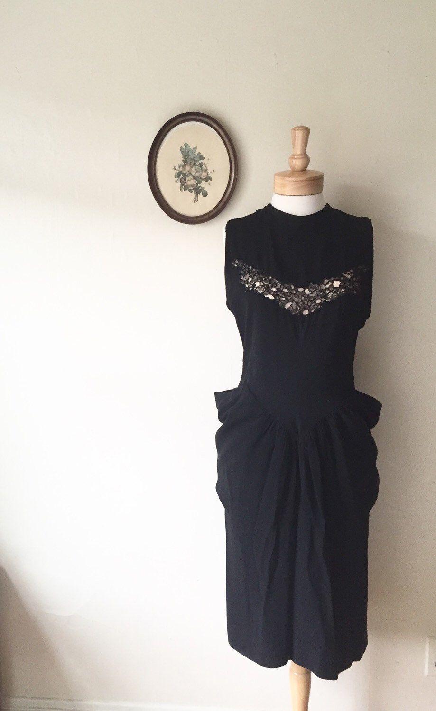 Vintage 1940s Color Block Swag Dress: Pin On Vintage 1940s