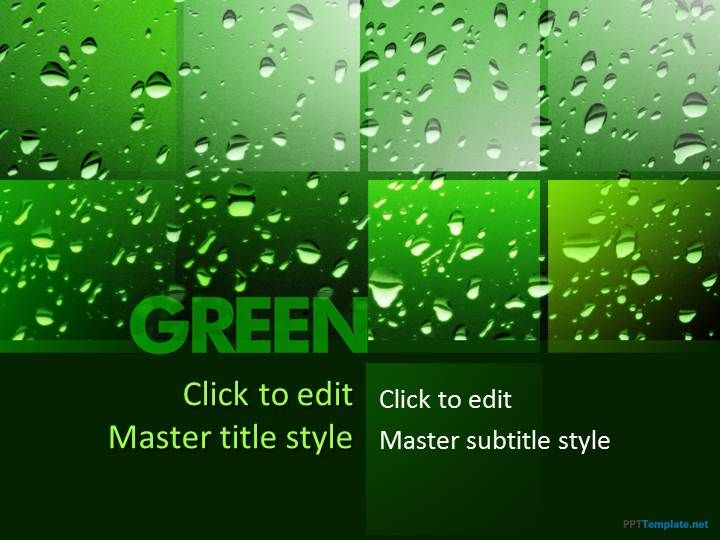 Free Going Green PPT Template Proyectos que debo intentar - nature powerpoint template