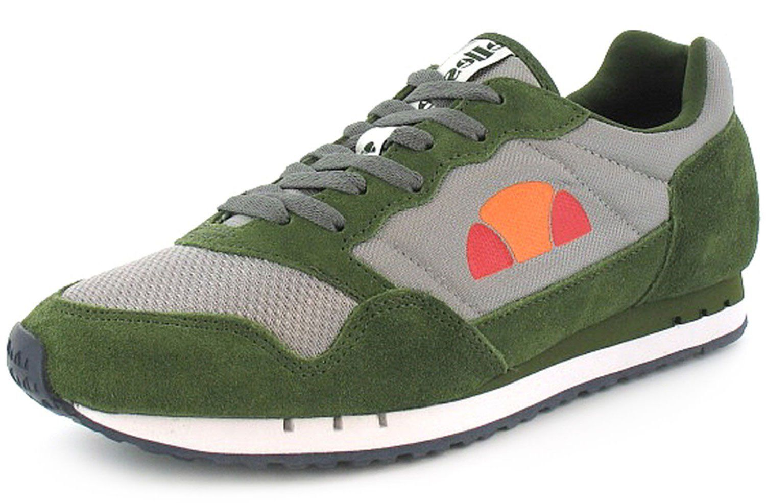 8219019d06a Mens Gents Green Ellesse Lace Up Retro Running Shoes Trainers - Grey Green  - UK SIZE 11  Amazon.co.uk  Shoes   Bags