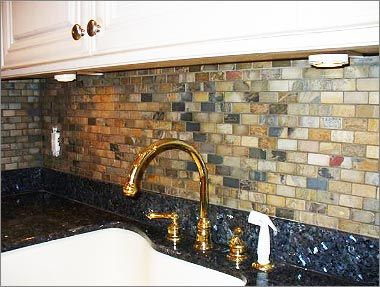 See Slate Tile Backsplash Images To Get An Idea How To Install Slate Tile  Kitchen Backsplash. You Can Create Magic With Copper Slate Backsplash, ...