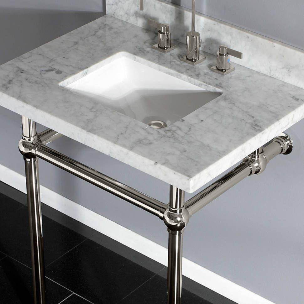 Carrara Marble 30 Single Bathroom Vanity Set Single Bathroom Vanity Marble Bathroom Bathroom Vanity