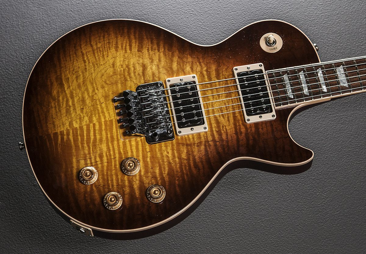 gibson les paul axcess standard 2008 faded tobacco burst floyd rose alex lifeson gibson [ 1200 x 835 Pixel ]