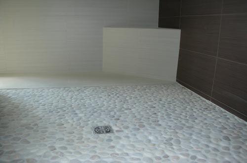 White Tiled Bathrooms Pebble Tile Design Ideas For Bathroom White