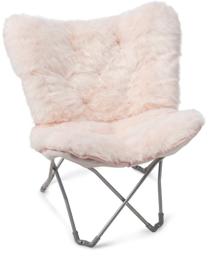 Simple By Design Sherpa Memory Foam Butterfly Chair Bedroom