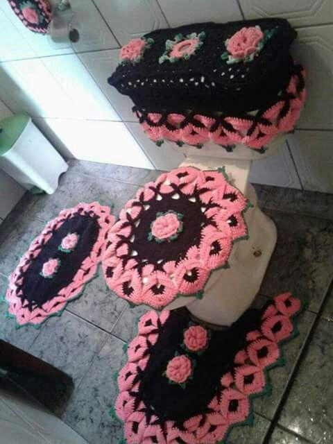 Pin von Connie Mounts auf Crocheted Bath Sets | Pinterest
