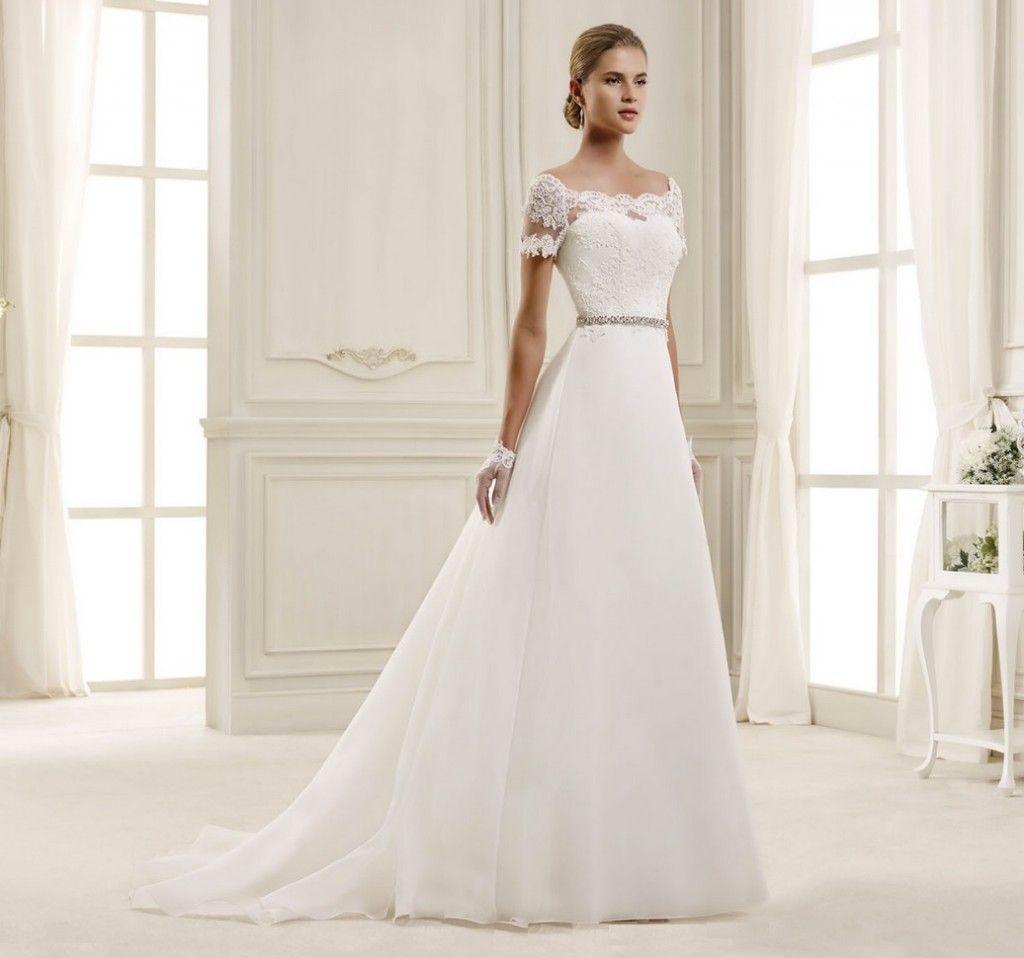 Famous Hochzeitskleid Spitze Schlicht XT68 | Messianica