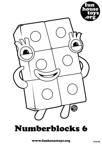 Numberblocks 6 | Printables free kids, Coloring pages for ...