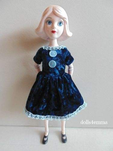 blue velvet baby doll dress for 14 wizard of oz china doll by