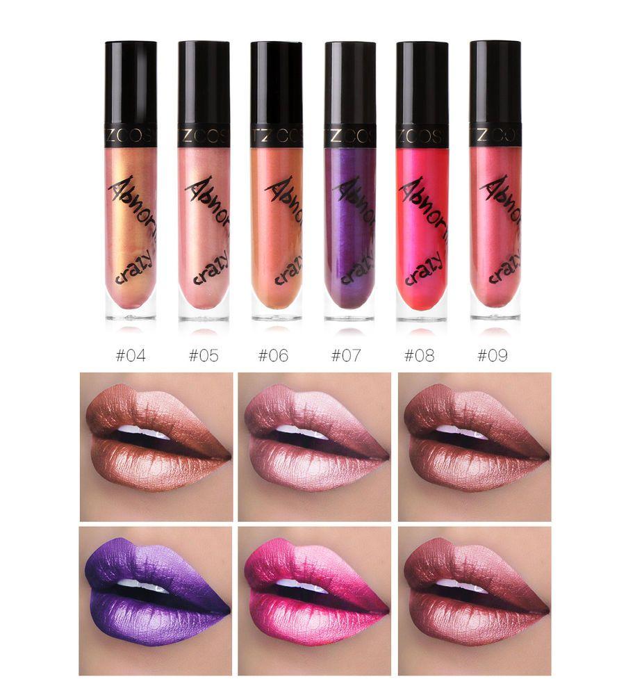 TZ Metallic Lip Gloss Shimmer Lipstick for Makeup Beauty