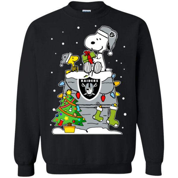 Oakland Raiders Ugly Christmas Sweaters Snoopy Hoodies Sweatshirts