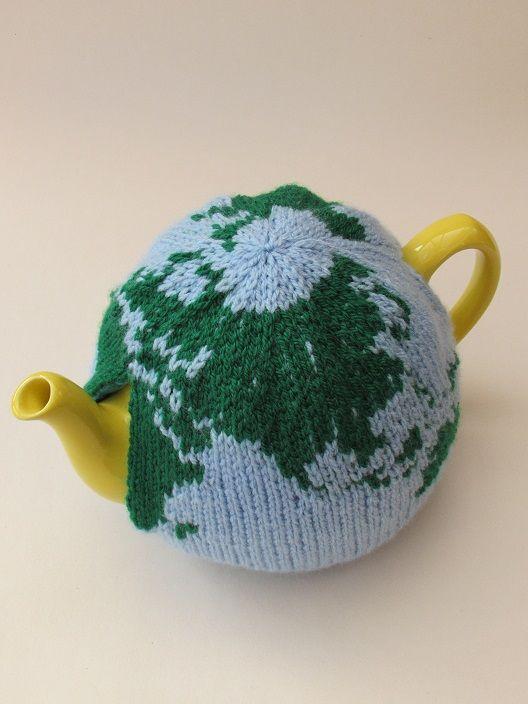 World tea cosy knitting pattern | Hora del té, Geografía y Las horas
