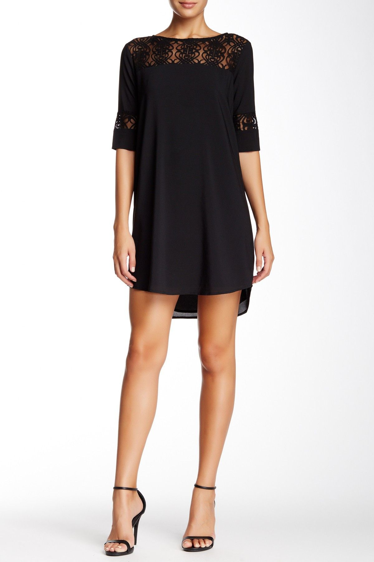 BB Dakota | Lace Trim Shift Dress | Nordstrom Rack